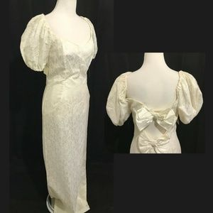 Size M Vintage Wedding Gown Ivory Lace NOS 1970s